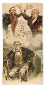 Cartoon: Panic Of 1893 Hand Towel