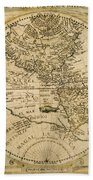 W. Hemisphere Map, 1596 Bath Towel