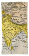 Asia Map, 19th Century Bath Towel