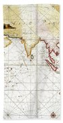 Indian Ocean: Map, 1705 Bath Towel