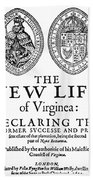 Virginia Tract, 1612 Bath Towel