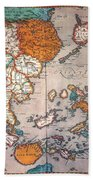 Pacific Ocean/asia, 1595 Bath Towel