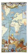 Map: British Empire, 1886 Bath Towel