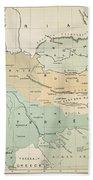 Balkan Map, 1885 Bath Towel