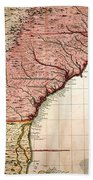 Colonial America Map, 1733 Bath Towel
