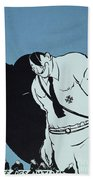 Adolf Hitler Cartoon, 1935 Bath Towel