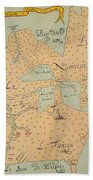 Jolliet: North America 1674 Bath Towel