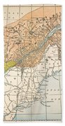 Map: Eastern Canada Bath Towel