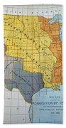 U.s. Map, 1776/1884 Bath Towel