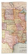 Map: United States, 1905 Bath Towel