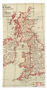 Map: British Isles, C1890 Bath Towel