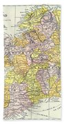 Map: Ireland, C1890 Bath Towel
