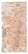 Spain: Madrid Map, C1920 Bath Towel