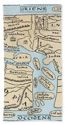 World Map 2nd Century Bath Towel