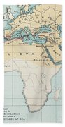 Map: Phoenician Empire Bath Towel