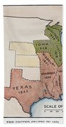 United States Map, 1854 Bath Towel