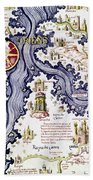 Marco Polo (1254-1324) Bath Towel