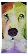 0356 Dog By Nixo Bath Towel