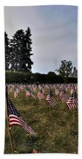 04 Flags For Fallen Soldiers Of Sep 11 Bath Towel