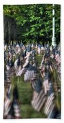 06 Flags For Fallen Soldiers Of Sep 11 Bath Towel