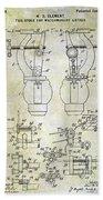 1902 Watchmakers Lathes Patent Bath Towel
