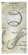 1924 Baseball Patent Bath Towel
