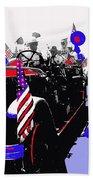 1930 American Lafrance Fire Truck Pro-viet Nam War March Tucson Arizona 1970 Color Added Bath Towel