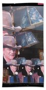 21 Dukes John Wayne Cardboard Cutout Collage Tombstone Arizona 2004-2009 Bath Towel