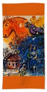 4dpictfdrew3 Marc Chagall Bath Towel