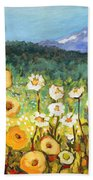 A Mountain View Bath Towel by Jennifer Lommers