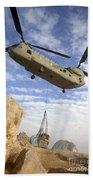 A U.s. Army Ch-47 Chinook Helicopter Bath Towel