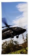 A U.s. Army Uh-60 Black Hawk Helicopter Bath Towel