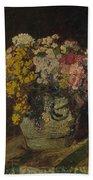 A Vase Of Wild Flowers Bath Towel