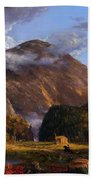 A View Of The Mountain Pass Called The Notch Of The White Mountains Bath Towel