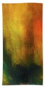 Abstract Background Structure With Oil Painting Texture In Tones Of Nature. Bath Towel