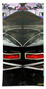 Abstract Black Car Bath Towel