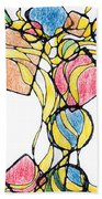 Abstract Pencil Pattern Bath Towel