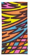 Aceo Abstract Design Bath Towel