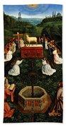 Adoration Of The Mystic Lamb Hand Towel