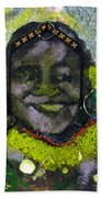 African Bead Painting Bath Towel
