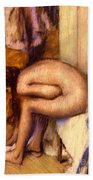 After The Bath Bath Towel by Edgar Degas