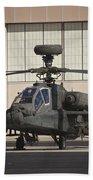 Ah-64d Apache Longbow At Pinal Airpark Bath Towel