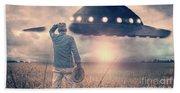 Alien Encounter Bath Towel