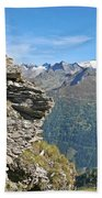 Alps Mountain Landscape  Bath Towel