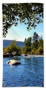 American River Through The Trees Bath Towel
