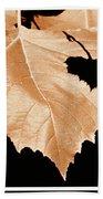 American Sycamore Leaf And Leaf Shadow Bath Towel