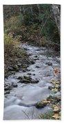 An Autumn Stream Bath Towel