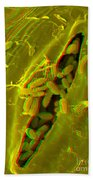 Anaglyph Of Infected Lettuce Leaf Bath Towel