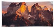 Andes Mountains Bath Towel
