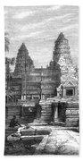 Angkor Wat, Cambodia, 1868 Bath Towel